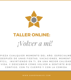 Taller Online Volver a Mí